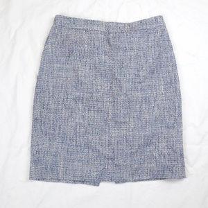 J Crew The Pencil Skirt Career Tweed Wool Blend